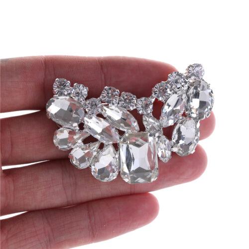 Shiny Bridal Wedding Shoes Clips Crystal Rhinestone Decor Accessories NewestLD
