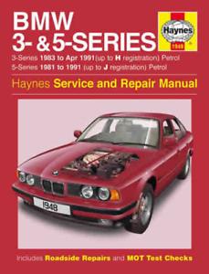 Haynes Workshop Manual BMW 3 & 5 Series E30 E28 E34 1981-1991 New ...