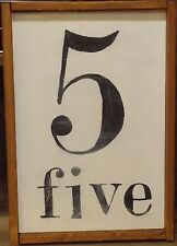 Wood Number Sign - What's Your Family Number? Farmhouse Decor
