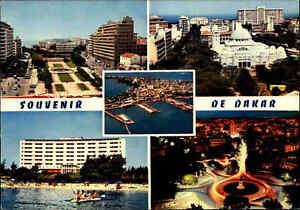 SENEGAL-Postkarte-Afrika-Postcard-DAKAR-1970-Mehrbild-AK-Souvenir-Multi-View