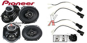 s l300 pioneer ts a6886r 6x8 speakers with wiring harness fits ford 2 ford to pioneer wiring harness at crackthecode.co
