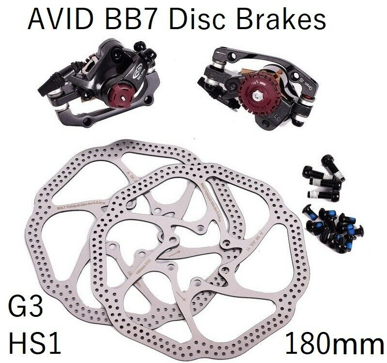 AVID BB7 Mechanical Disc Brake Calipers HS1 G3 redors  180mm Front Rear MTB bike  various sizes