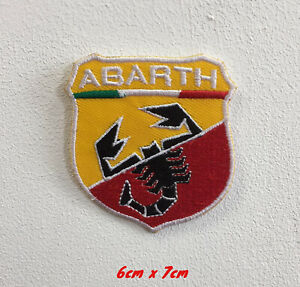 Abarth Racing Cars Art Badge Iron or Sew on Embroidered Patch