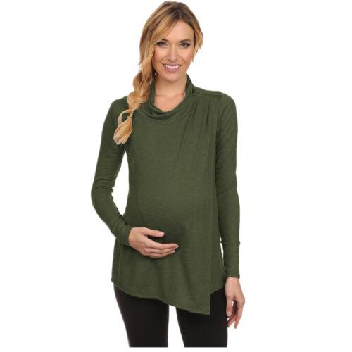 Womens Clothes Plain Pregnant Maternity Nursing Breastfeeding Top Shirt Blouse
