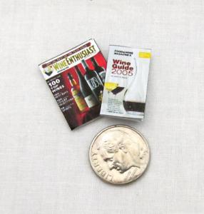 2 WINE GUIDE MAGAZINE Dollhouse Miniature 1:12 Scale **2 FOR 1** Cookbook