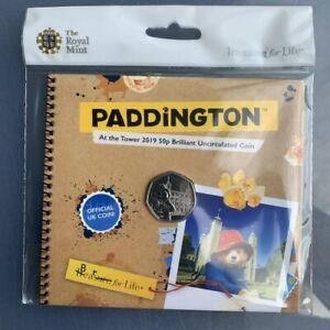 Paddington-at-the-Tower-of-London-50p-Coin-New-Royal-Mint-BU-BUNC-Sealed-Folder