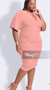 aca0ebb81d4 Image is loading Monif-C-Nelly-Women-Plus-Size-Blush-Dress-