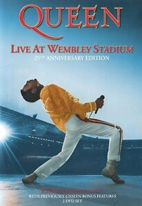 QUEEN-2-DVD-LIVE-AT-WEMBLEY-25th-ANNIVERSARY-DVD-FREDDIE-MERCURY-2DVD-NEW