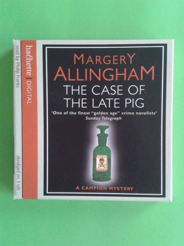 The Case Of The Late Pig - Margery Allingham - Read by Philip Franks - 3 Cds.