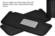 BLACK STITCHING FITS  VW TOURAN 2003-2010 2X SUN VISORS LEATHER COVERS ONLY