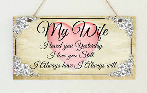 Plaque my wife i love you always valentines anniversary image is loading plaque 034 my wife i love you always negle Choice Image
