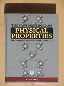 Yaws Handbook of physical properties-NEW NEW Neuf Nuevo