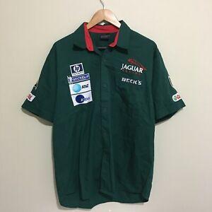 Jaguar-F1-Formula-One-Racing-Button-Front-Pit-Shirt-Mens-XL