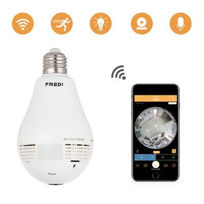 Authentic FREDI 960P Fisheye IP Camera Lamp Bulb Home Security Camera