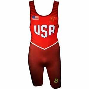 ASICS JB Elite Competition Wresting Singlet Mens Athletic Wrestling Red -  889436308269 | eBay