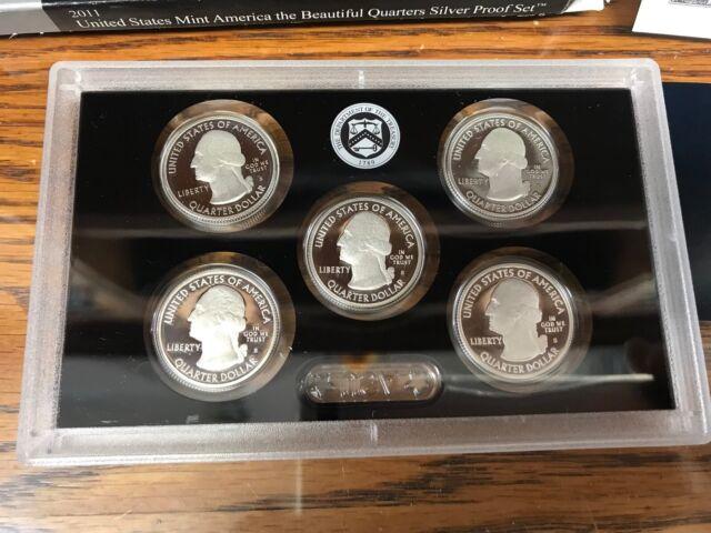 2011 US Mint America the Beautiful Quarters Silver Proof Set