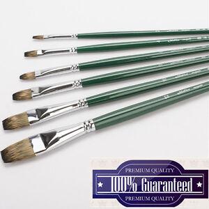 High End Premium Mongoose Hair Flat Artist Paint Brush