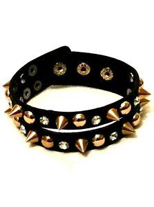 Leather star gothic punk emo bracelet