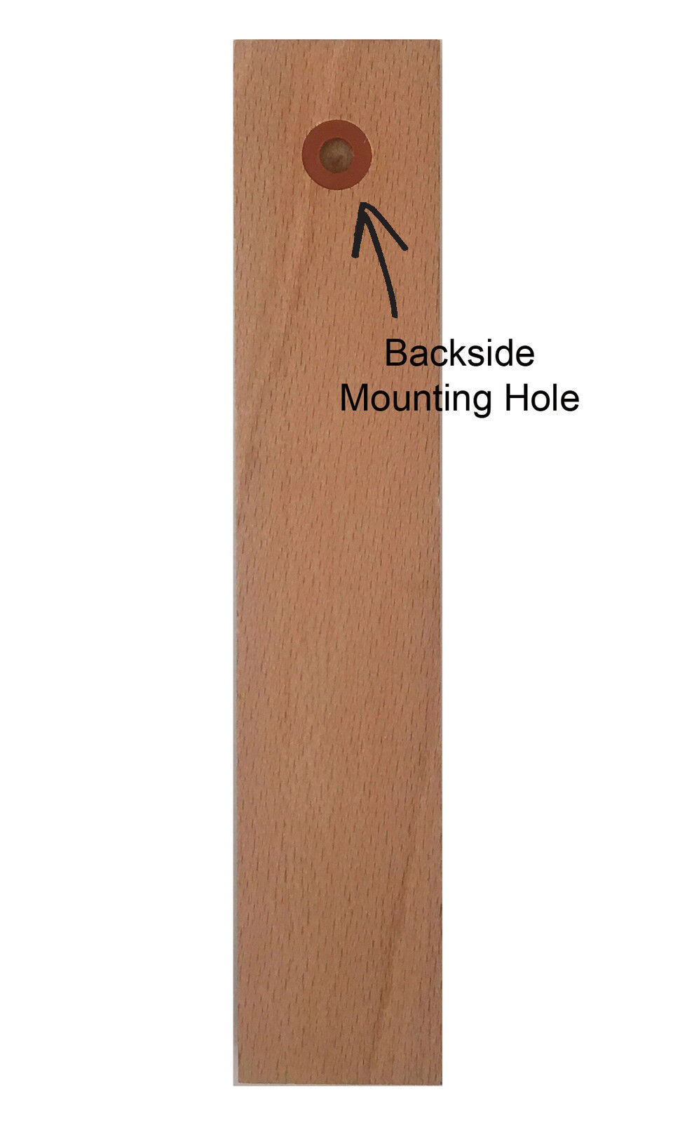 Analog Wall Thermometer Fahrenheit Scale Wood Walnut Finish 7.8 inch tall