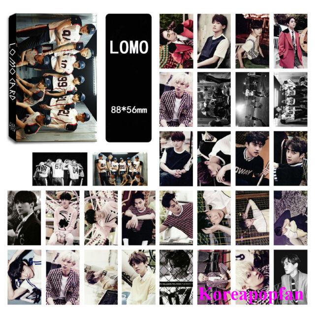 30pics set EXO love me right EXODUS LOMOCARDS Kpop goods New