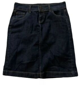 Old Navy Womens Jean Pencil Straight Skirt Size 2 Stretch Blue Denim 5 Pocket