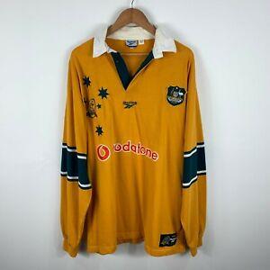 Vintage-Wallabies-Rugby-Jersey-1999-Australia-Reebok-Long-Sleeve-100-Years-Rare