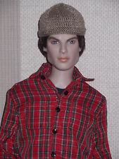 Tonner Male Doll Micro Knitted Beige Beanie Hat Matt/ Sean/ Damon/Jeremy