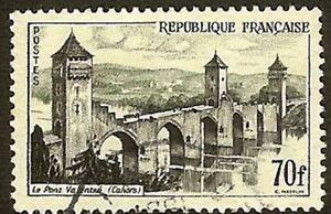 Francia-Francobollo-Stamp-N-1119-034-Ponte-Valentre-Cahors-70F-034-Oblitere-Molto