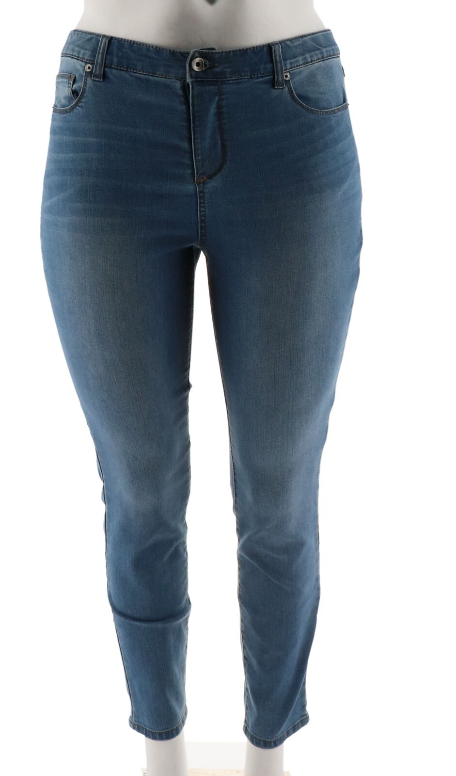 Kelly Clinton Kelly 5 Tasche Caviglia Jeans Jeans Jeans Medio Indaco 4 Nuovo A297974 093cc4