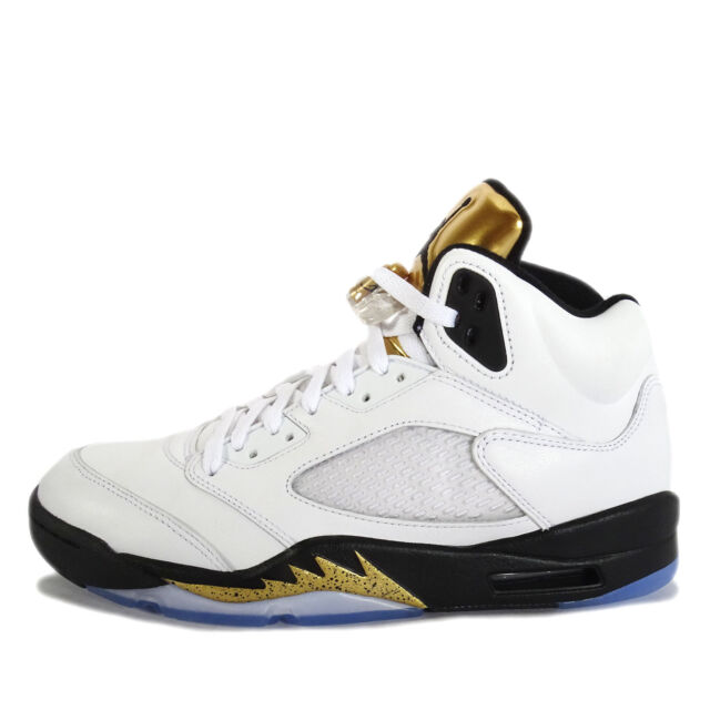 new arrival 9a103 6366b Authentic Air Jordan Retro 5 Size 12 White  Metallic Gold Shoes 136027 133