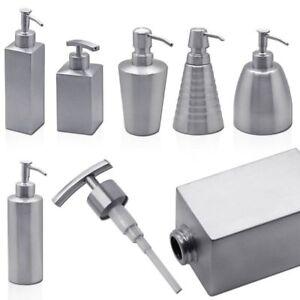 1-Edelstahl-Seifenspender-Spuelmittel-Dosierer-Pumpspender-fuer-Fluessigseife-Bad