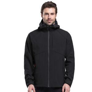 Men-039-s-Warm-Fleece-Lined-Soft-Shell-Jacket-Waterproof-Outdoor-Sport-Coat