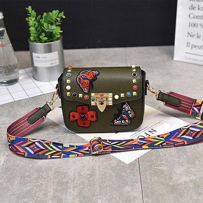 Fashion Rivet Women Lady Handbag PU Leather Messenger Bag Shoulder Tote Satchel