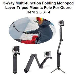 Dettagli su Selfie Hand Grip 3-Way Monopod Tripod Mount Bracket For Gopro  Hero 5 4 3+ 3 Top e1266d690f9