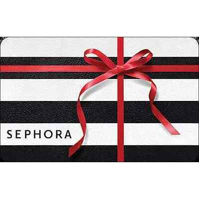 Sephora Gift Card - Holiday Bow - $25 $50 or $100 - Email delivery