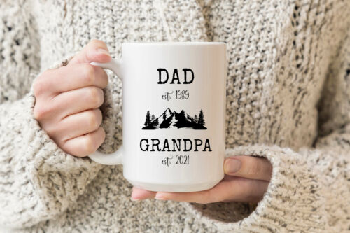 New Grandpa Mug Pregnancy Announcement Promoted To Pops Baby Announcement