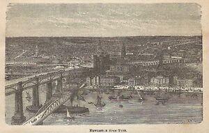 Travailleur A0040 Newcastle - Veduta - Stampa Antica Del 1907 - Xilografia