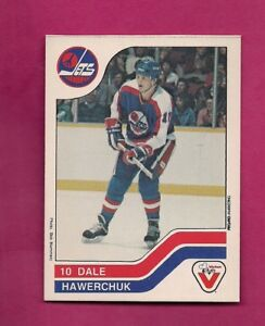 RARE-1983-84-JETS-DALE-HAWERCHUK-VACHON-FOOD-SHORT-PRINT-CARD-INV-A6395