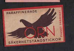 Ancienne étiquette allumette Finlande BN8016 Aigle nGyjCmps-09113604-261490319