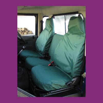 LAND ROVER DEFENDER 90 110 Heavy Duty Black Waterproof Single Seat Cover