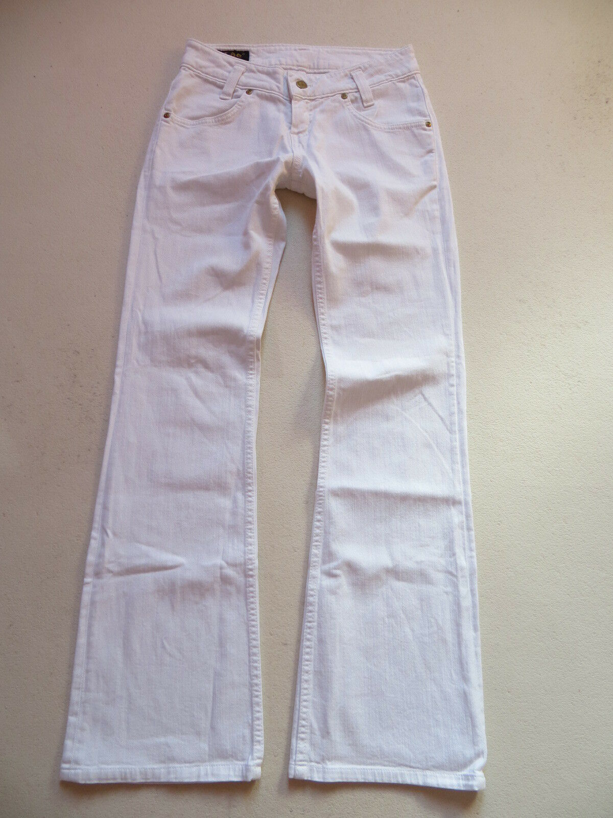 Lee Damen Stiefelcut Jeans Hose W 27    L 32 Weiß   Weiß Stretch Denim TOP   36 cce251
