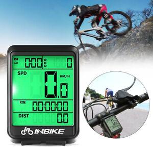 New LCD MTB Bike Wireless Computer Bicycle Speedometer Odometer Waterproof UK