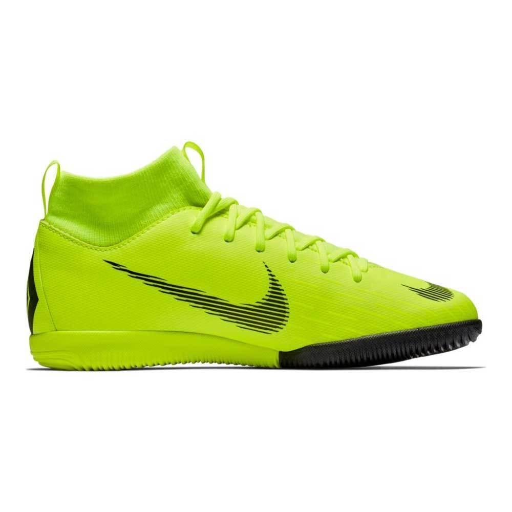 Nike JR Superfly 6 Academy GS IC Hallenschuhe Kinder Neongelb AH7343-701