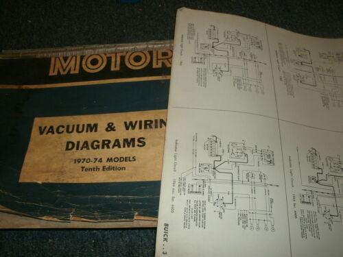 1970-1974 OLDSMOBILE CUTLASS AND 442 WIRING DIAGRAMS MANUAL SHEETS SET