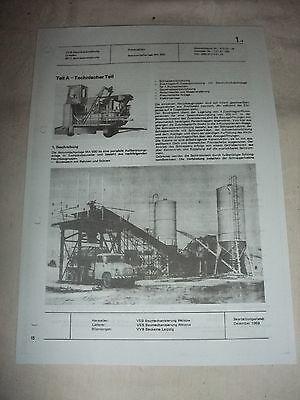 Sonderabschnitt Ddr Werbung Reklame Prospekt Datenblatt Betonmischanlage Ma 500 Veb Welzow 1969 Hohe QualitäT Und Geringer Aufwand Business & Industrie Reklame