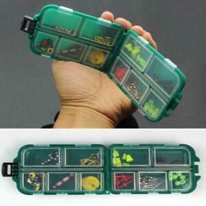 10 Compartments Mini Fishing Tackle Box Fish Lures Baits Hooks Storage G1X4