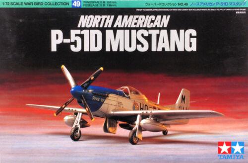 Tamiya 60749 North American P-51D Mustang 1//72 scale Kit