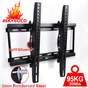 TV-Wall-Mount-Bracket-Tilt-32-40-42-46-48-50-55-Plasma-LCD-LED-FLAT-Samsung-VESA