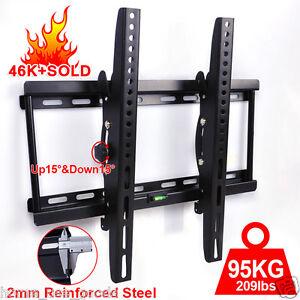 TV-Wall-Bracket-Slim-Tilt-32-40-42-46-48-50-55-inch-Plasma-LCD-LED-3D-LG-Samsung