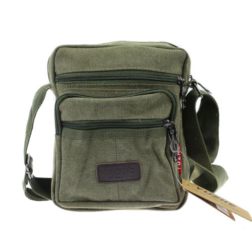 Mens Canvas Messenger Shoulder Bags Small Casual Travel Crossbody Satchel